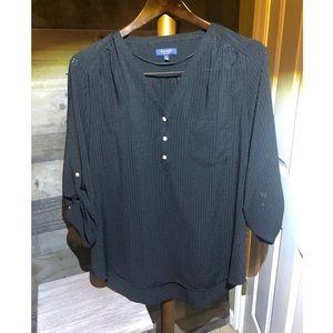 Women's Kaari Blue Blouse, Black, Large